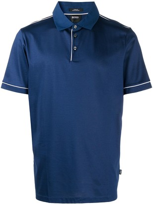 HUGO BOSS Contrast Piped Trim Polo Shirt