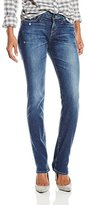 Big Star Women's Brigette Mid Rise Slim Straight Jean In Olympic Wash