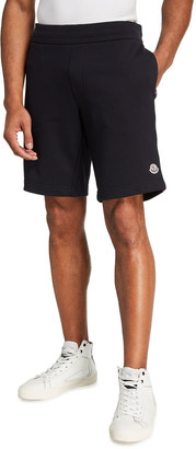 Moncler Men's Reflective Flag Sweat Shorts