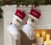 Pottery Barn Kids Angel Woodland Stocking