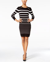 Calvin Klein Petite Striped Sweater Dress
