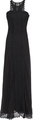 Charo Ruiz Ibiza Elba Crocheted Lace-paneled Cotton-blend Voile Maxi Dress