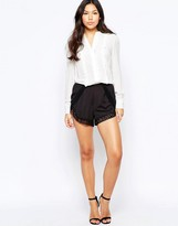 Lipsy Michelle Keegan Loves Shorts with Crochet Trim
