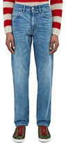 Gucci Men's Destroyed Cuff Slim Leg Jeans In Blue