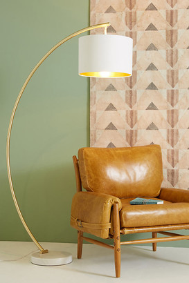 Anthropologie Luna Floor Lamp By in Gold Size ALL