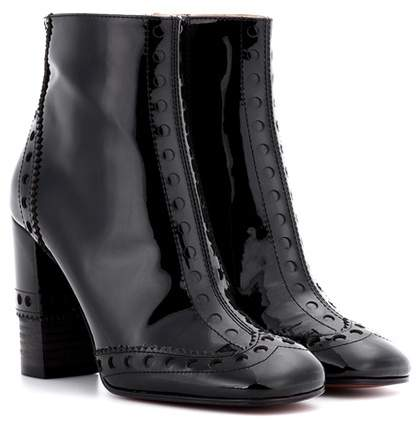 Chloé Perry patent leather ankle boots