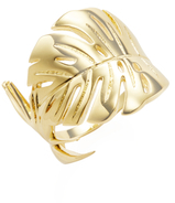 Noir Palm Leaf Trend Ring