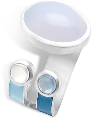 Cristina Cipolli Jewellery Blue Striped Ring