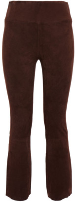 Sprwmn Stretch-suede Kick-flare Pants