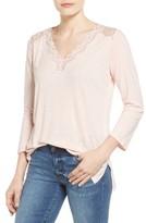 NYDJ Women's Lace Trim V-Neck Top