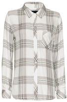 Rails EXCLUSIVE Plaid Shirt: White/Silver