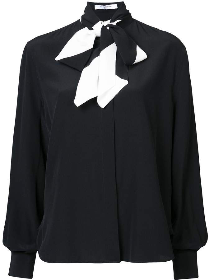 Givenchy Long Sleeved Bow Blouse