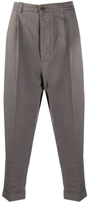 Ami Oversized Drop-Crotch Trousers