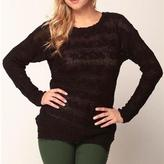 Suss Covered By Teresa Openback Boatneck Sweater