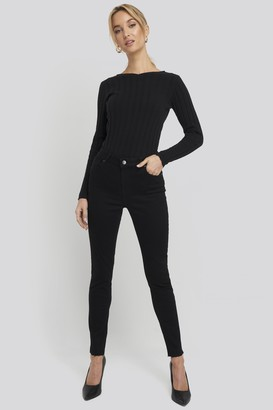 NA-KD Recycled Zip Detail Ankle Skinny Jeans