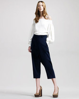 The Row Cropped Harem Trousers, Navy