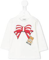 Moschino Kids - bow print long sleeve T-shirt - kids - coton/Spandex/Elasthanne - 18 mois