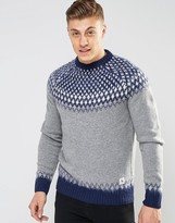 Bellfield Brushed Jacquard Knitted Sweater