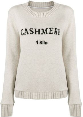 The Elder Statesman Cashmere Embroidered Jumper