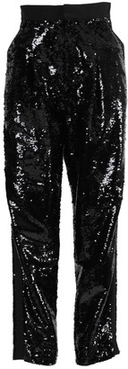 Dundas Black High-rise Sequin Pants