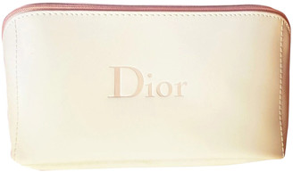 Christian Dior White Leather Travel bags