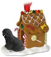 Lhasa Apso Gingerbread House Ornament - Black by Conversation Concepts
