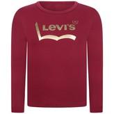 Levi's Levis KidswearGirls Burgundy Long Sleeve Midnight Top