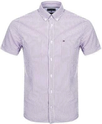 Tommy Hilfiger Short Sleeved Striped Shirt Purple