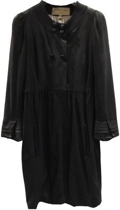Jasmine Di Milo Black Leather Coat for Women