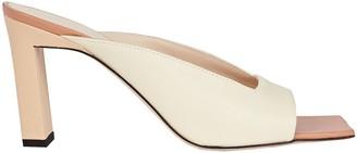 Wandler Isa Leather Slide Sandals