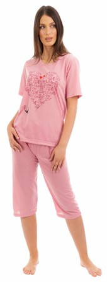 I Smalls i-Smalls Ladies Pyjama Set Heart Love Ultra Soft Cotton (L) Green