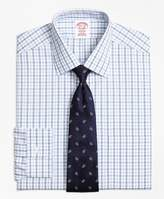 Brooks Brothers Non-Iron Madison Fit Hairline Framed Check Dress Shirt