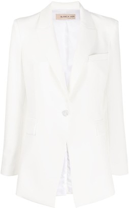 Blanca Vita single-breasted angled suit jacket
