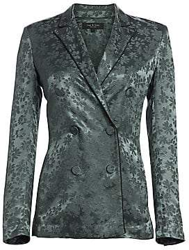 Rag & Bone Women's Jarvis Floral Jacquard Double-Breasted Blazer