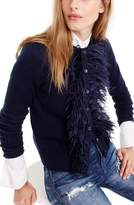 J.Crew Women's Faux Feather Wool Blend Cardigan
