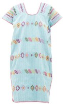 Pippa Holt - No. 189 Embroidered Cotton Kaftan - Womens - Blue Multi