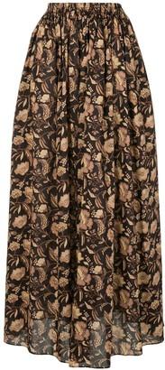 Matteau Ginger Hibiscus maxi skirt