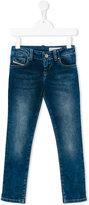 Diesel stonewashed denim jeans - kids - Cotton/Polyester/Spandex/Elastane - 6 yrs