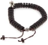 Jean Claude Adjustable Wood & Silvertone Bracelet