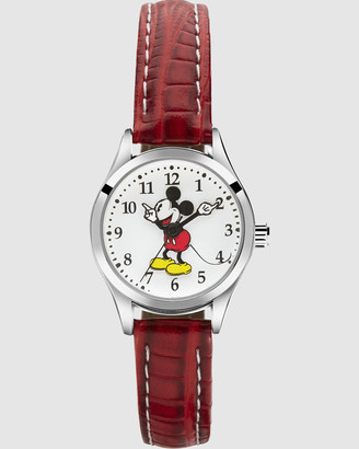 Disney Watches - Petite Mickey Croco Red Watch - Size One Size at The Iconic