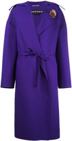 Rochas board lapel belted coat - women - Silk/Polyamide - 42