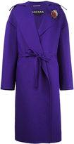 Rochas board lapel belted coat