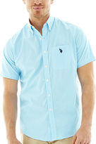 U.S. Polo Assn. USPA Short-Sleeve Plaid Woven Shirt