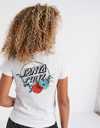 Santa Cruz Floral Dot t-shirt in white