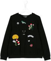 Ermanno Scervino embroidered patch jumper