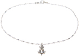 Sterling Silver Sea Turtle Charm Anklet