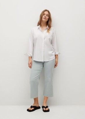 MANGO Culotte frayed jeans