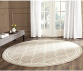 Safavieh Amherst Collection AMT414S Wheat and Beige Indoor/Outdoor Round Area Rug, 7 Feet in Diameter