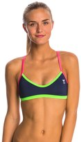 TYR Solid Brites Pink Crosscutfit Bikini Swimsuit Top 8145550