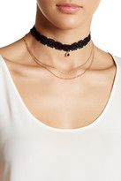 Stephan & Co Lace & Draped Chain Choker